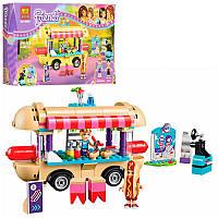 Конструктор для девочки Friends Френдс - Кафе фургон с хот-догами в парк развлечений, аналог лего bela 10559