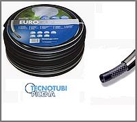 """Шланг поливочный Tecnotubi Euro GUIP BLACK 1"""" дюйм 25 м"""