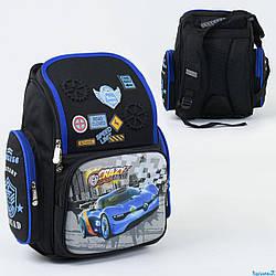 Рюкзак школьный С 36197, 1 отделение, 3 кармана, спинка ортопедическая, 3D принт
