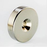 Неодимовый магнит. Диск 40х9,5 мм, отверстие 6,5 мм