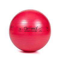 Фитбол - Qmed ABS Gym Ball 55 см. Гимнастический мяч для фитнеса. Красный