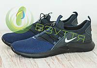 Кожаные кроссовки арт 161 син размеры 44,45, фото 1