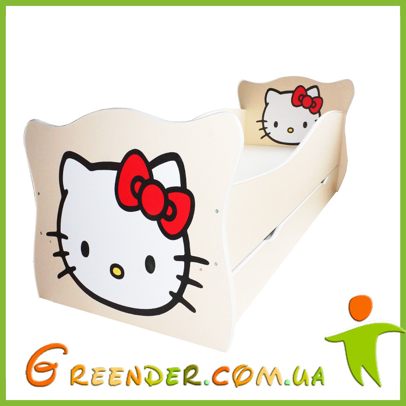 Детская кровать с принтом Hello Kitty серии Animal (Бесплатная доставка!)