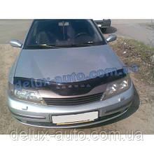 Мухобойка на капот Renault Laguna 2001-2005 Дефлектор капота на Рено Лагуна 2001-2005