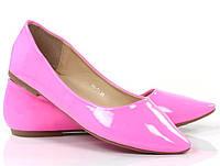 Модные Женские балетки, лодочки туфли , туфли, на плоской подошве от производителя  розового цвета. Очень легкие и удобные!