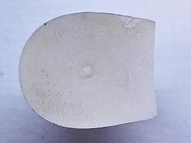 Каблук женский пластиковый 594 белий Pgg р.1,3  h-7,1 , 7,6 см., фото 2