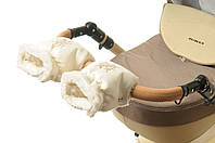 Рукавички-Муфта на коляску Ok Style Снежинка  Светло молочный