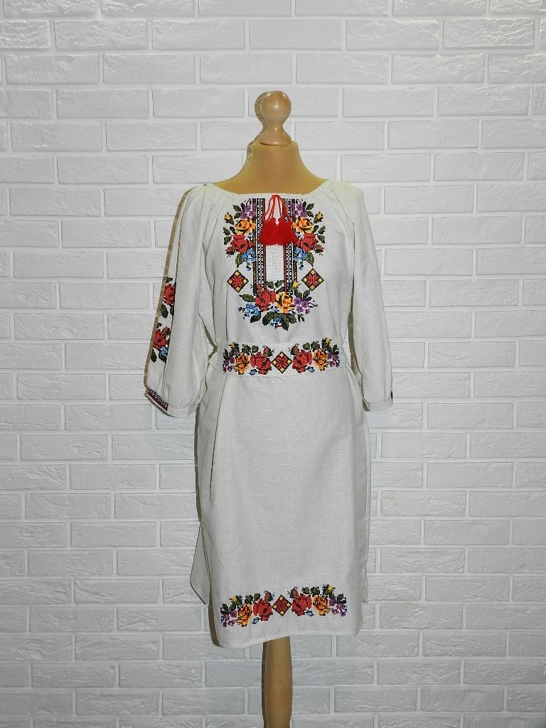 Платье-вышиванка из льна 54 р.