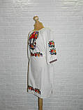 Платье-вышиванка из льна 54 р., фото 2