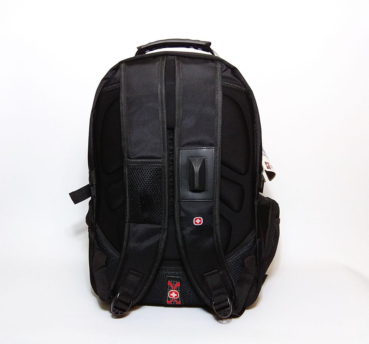 Вместительный большой рюкзак SwissGear, свисгир. Черный. На 35Л