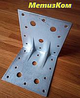 Уголок 100*100*100(2,0) крепежный оцинкованный с ребром жесткости