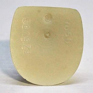 Каблук женский пластиковый 7050 белый  р.1-3  h-7,0-7,5 см., фото 2
