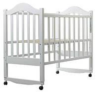 Детская кроватка Babyroom Дина D100 на колесах с качалкой