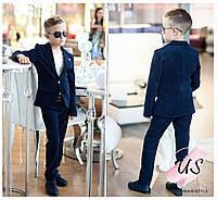 Классический вельветовый костюм для мальчика: брюки и пиджак. 2 цвета