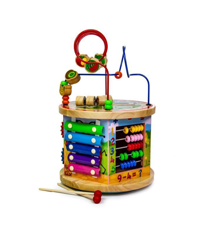 Деревянная развивающая игрушка-сортер 10 в 1