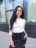 Женская черная юбка с поясом , фото 3
