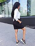 Женская черная юбка с поясом , фото 5