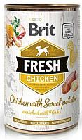 Консервы для собак Brit Fresh Chicken With Sweet курица, батат 400 гр (100159)
