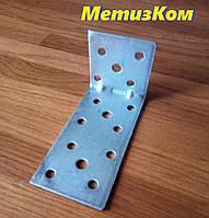 Уголок 40*80*40(2,0)крепежный оцинкованный с ребром жесткости