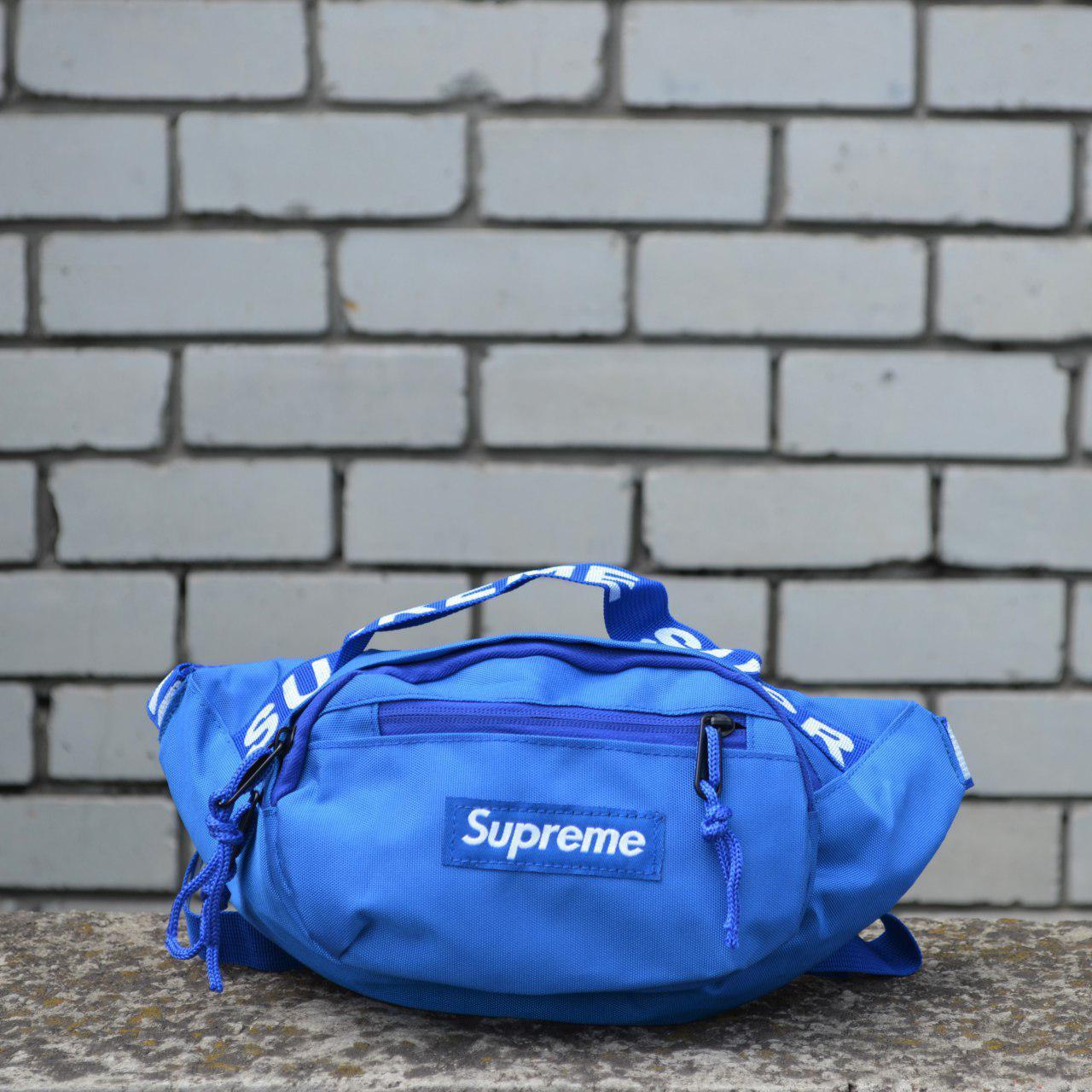 Поясная сумка Бананка Supreme blue