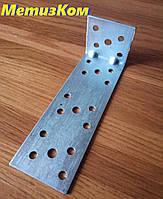 Уголок 40*120*40(2,0) крепежный оцинкованный с ребром жесткости