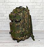 Тактический, походный рюкзак Military. 25 L. Камуфляжный, пиксель, милитари.  / T412, фото 7
