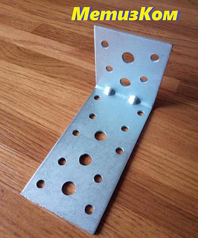 Уголок 50*100*50(2,0)крепежный оцинкованный с ребром жесткости, фото 2