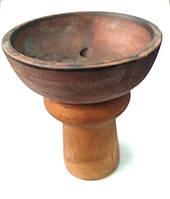 Чаша для кальяна глиняная классика темная, фото 1