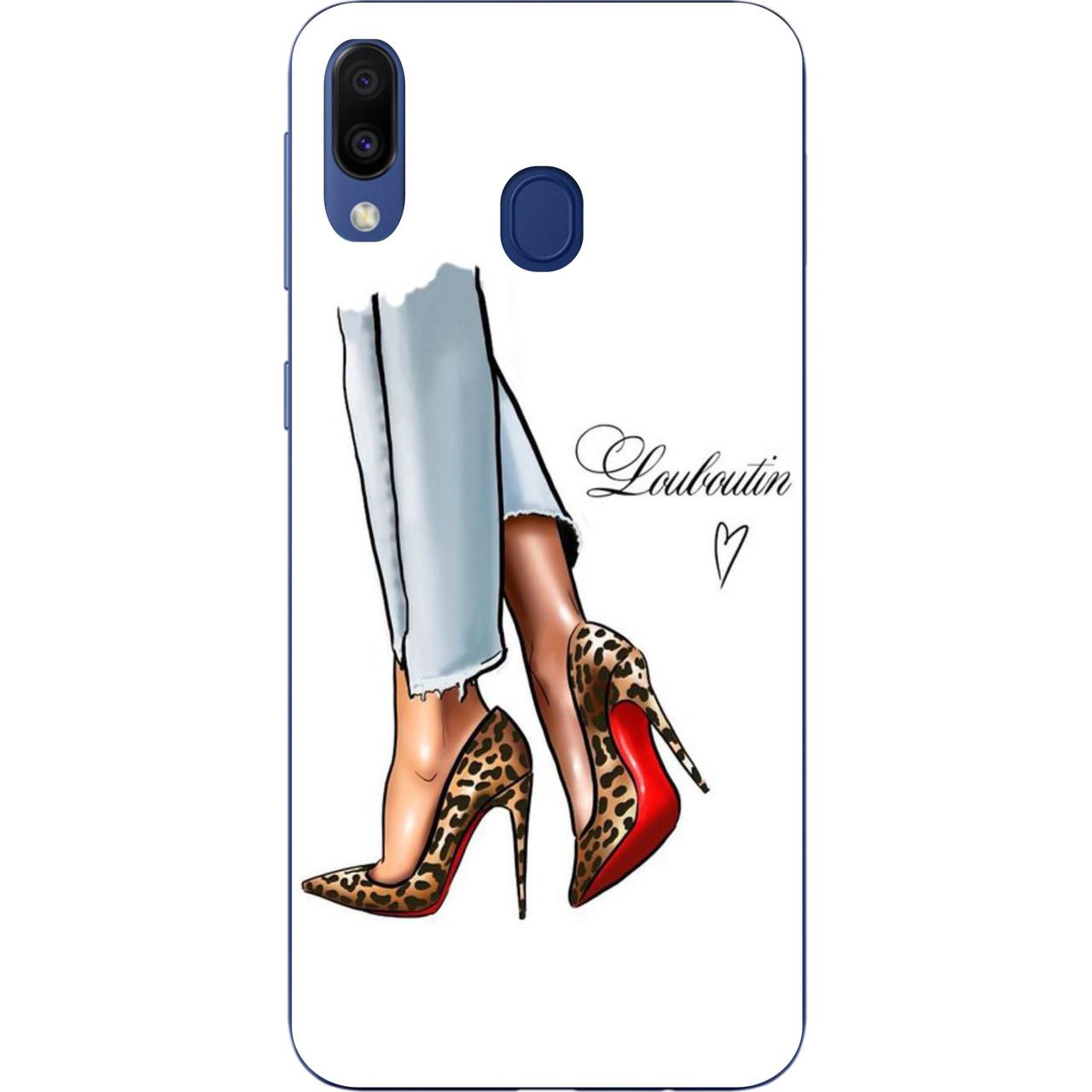 Чехол силиконовый для Samsung Galaxy A20 2019 A205F с картинкой Туфли