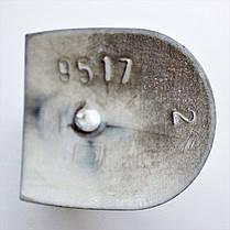 Каблук женский пластиковый 9517 коричневый р.2-4  h-9,0-9,7 см., фото 3