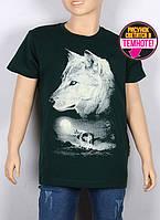 Подростковая футболка с рисунком светящимся в темноте, Черная 38-44