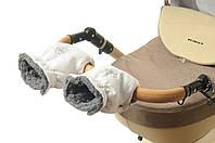 Рукавички-Муфта на коляску Ok Style Снежинка Белый, фото 1