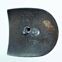 Каблук женский пластиковый 1280 коричневый р.1-3  h-12,0-13,0 см., фото 3