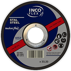 Круг зачистной по металлу 230х6,0x22,23мм, A24SBF-27, steel, IncoFlex (10)