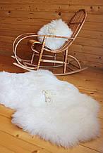 Шкура овеча натуральна біла супер-м'яка шкіра
