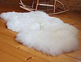 Шкура овечья натуральная белая супер-мягкая кожа, фото 2
