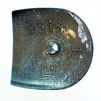 Каблук женский пластиковый 9518 коричневый Сталекс р.3-1  h-9,2-8,5 см., фото 3