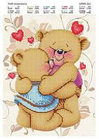 Схема для вышивки бисером медвежата