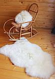 Шкура овечья натуральная белая супер-мягкая кожа, фото 4