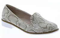 Стильные Женские балетки, лодочки туфли , туфли, на плоской подошве от производителя  со змеииным принтом!