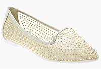 Стильные Женские балетки, лодочки туфли , туфли, на плоской подошве от производителя  золотистого цвета!