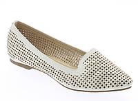 Стильные Женские балетки, лодочки туфли , туфли, на плоской подошве от производителя  белого цвета!
