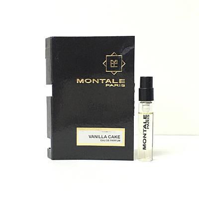Пробник унісекс MONTALE Vanilla Cake 2 мл (Монталь Ваніла Кейк) ОРИГІНАЛ пряниковий східний аромат