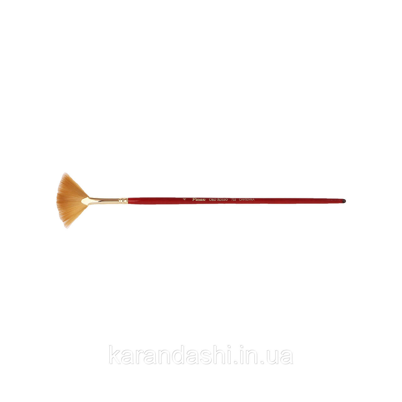"Кисть Pinax ""Oro Rosso"" Синтетика Веерная 753N 4"
