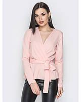 Стильная блуза на запах с длинным рукавом, фото 1