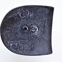 Каблук женский пластиковый 605 коричневый Pgg р.1-3  h-7,4-8,1 см., фото 3