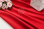 Лоскут сатина цвет красный №1325, фото 3