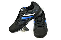 Мужские кроссовки прогулочные bona 494дп черные   весенние , фото 1