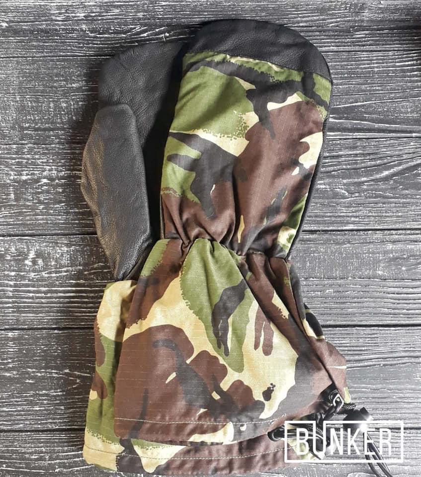 Оригинальные армейские рукавицы кожа в расцветке DPM