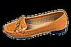 Женские балетки кожанные перфорированные elmira-rima x4-287tbl коричневые   летние